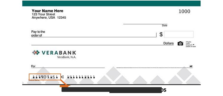VeraBank-Comprobar imagen-Número de ruta-Encabezado de página