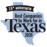 logotipo de 2020 Best Companies to Work for in Texas.